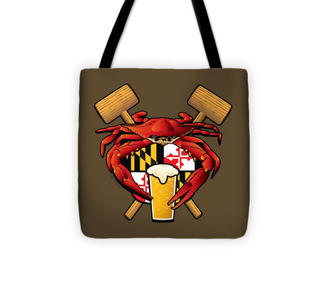 Maryland Crab Feast Crest - Tote Bag