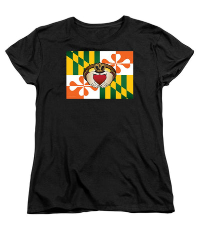 Maryland Irish Claddagh Art - Women's T-Shirt