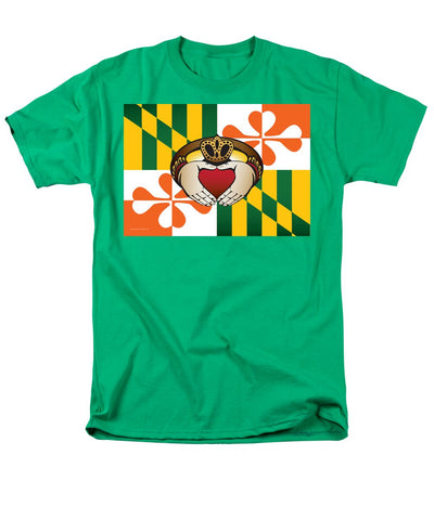 Maryland Irish Claddagh Art - Men's T-Shirt