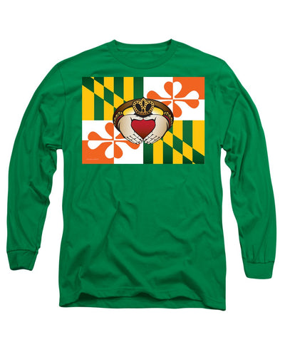 Maryland Irish Claddagh Art - Long Sleeve T-Shirt
