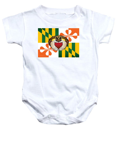 Maryland Irish Claddagh Art - Baby Onesie