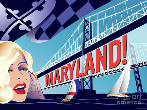 Maryland Monroe - Art Print