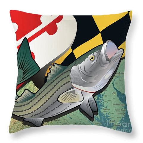 Maryland Rockfish - Throw Pillow