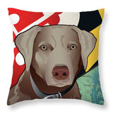 Maryland Silver Lab - Throw Pillow