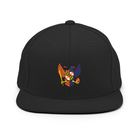 Birdland Baltimore Raven and Oriole MD Shield Embroidered Hat Snapback