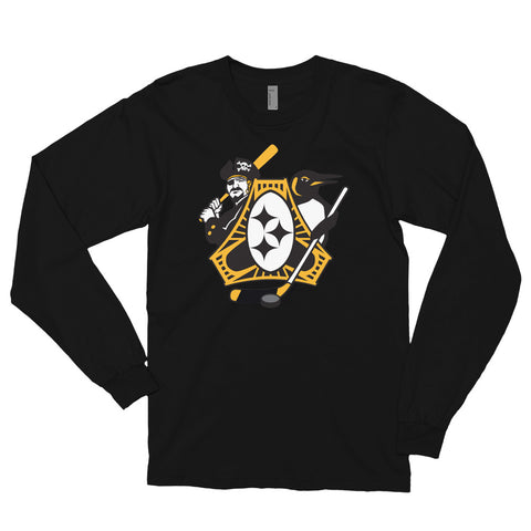 Pittsburgh - Three Rivers Roar Sports Fan Crest - Long sleeve t-shirt