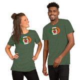 Irish Claddagh Oval Magnet, Short-Sleeve Unisex T-Shirt