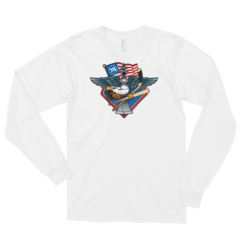 Fly, Philly, Fly! Sports Fan Crest - Long sleeve t-shirt
