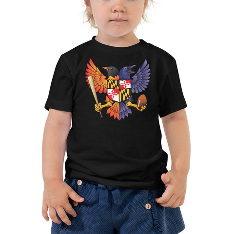 Birdland Baltimore Raven & Oriole Maryland Crest - Toddler Tee