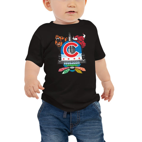 Chicago Sports Fan Crest - Baby Jersey Short Sleeve Tee