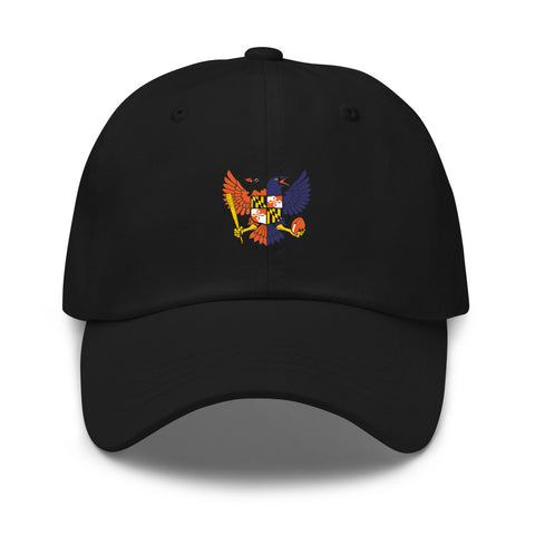 Birdland Baltimore Raven and Oriole MD Shield Embroidered Baseball Cap