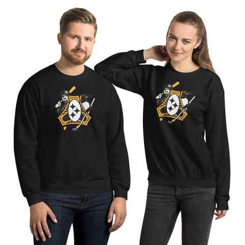 Pittsburgh - Three Rivers Roar Sports Fan Crest - Unisex Sweatshirt