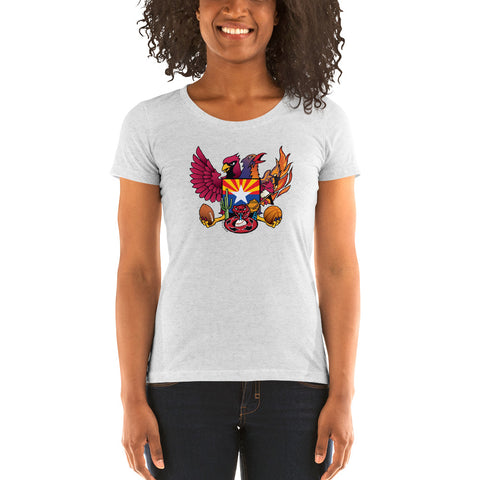 Arizona Sports Fan Crest - Ladies' short sleeve t-shirt
