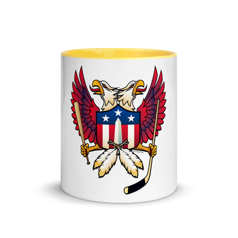 Washington DC - Double Eagle Sports Fan Crest - Mug with Color Inside