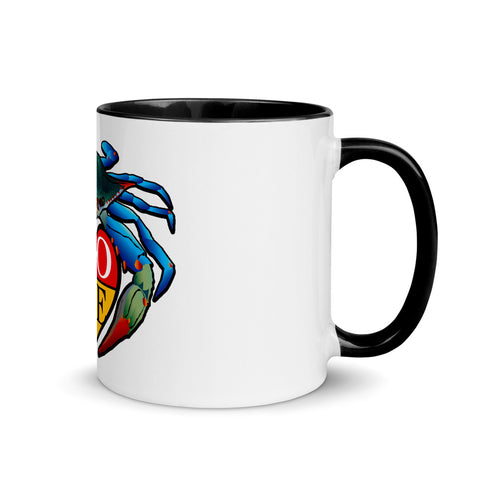 Blue Crab LOVE Crest - Mug with Color Inside