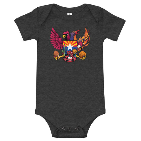 Arizona Sports Fan Crest - Baby Onesie