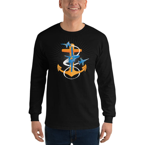 Blue Angels Fouled Anchor, Long Sleeve Shirt