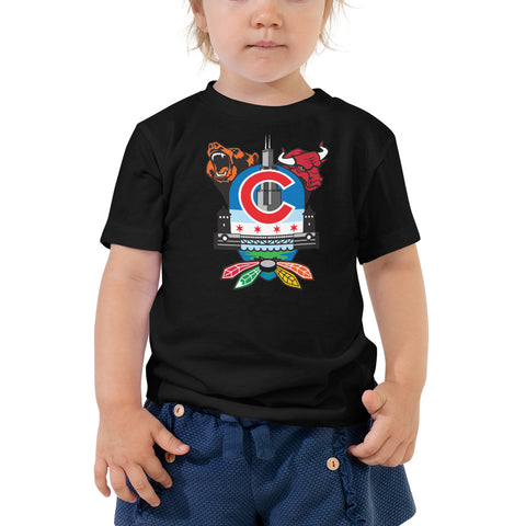 Chicago Sports Fan Crest - Toddler Short Sleeve Tee