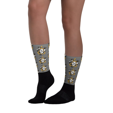 Pittsburgh - Three Rivers Roar Sports Fan Crest - Socks