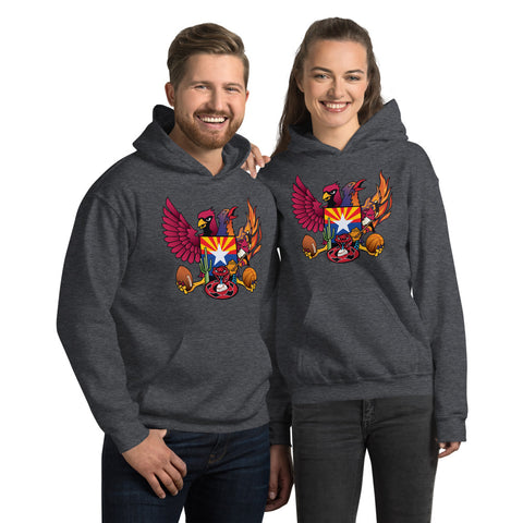 Arizona Sports Fan Crest - Unisex Hoodie