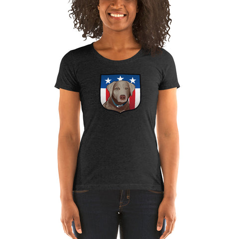 US Silver Lab Crest, Ladies' short sleeve t-shirt