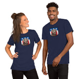 US Silver Lab Crest, Short-Sleeve Unisex T-Shirt
