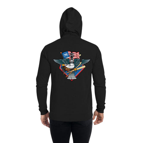 Fly, Philly, Fly! Sports Fan Crest - Unisex zip hoodie