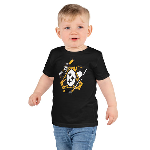 Pittsburgh - Three Rivers Roar Sports Fan Crest - Short sleeve kids t-shirt