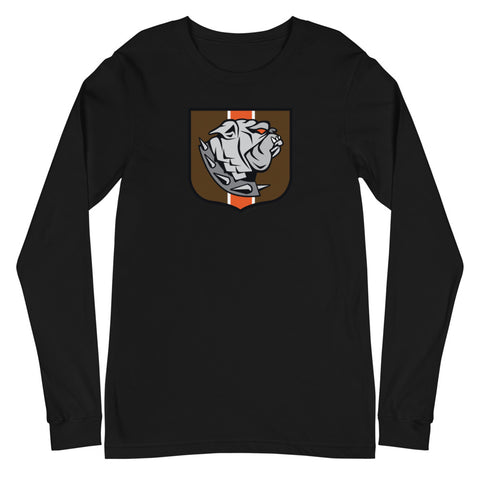 Cleveland Browns Dawg Crest, Unisex Long Sleeve Tee
