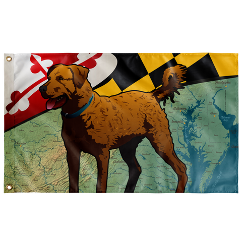 "Maryland Chessie, Large Flag, 60 x 36"" with 2 grommets"