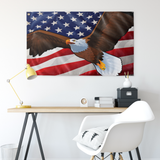 "USA Bald Eagle, Large Flag, 60 x 36"" with 2 grommets"