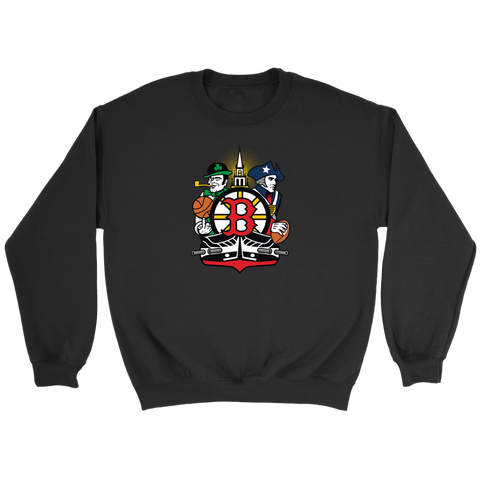 Boston Sports Fan Crest - Unisex Sweatshirt