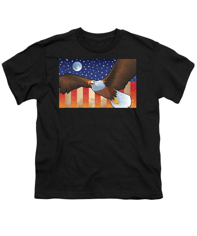 Saturn V Eagle Moon Launch - Youth T-Shirt