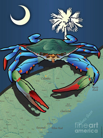 South Carolina Blue Crab - Art Print