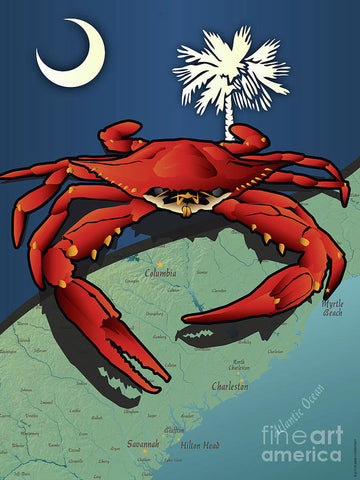South Carolina Crab - Art Print
