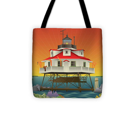 Thomas Point Shoal Lighthouse - Tote Bag