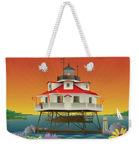 Thomas Point Shoal Lighthouse - Weekender Tote Bag
