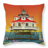 Thomas Point Shoal Lighthouse - Throw Pillow