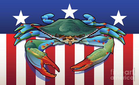 USA Blue Crab - Art Print