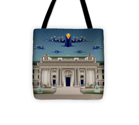 USNA Bancroft Hall Blue Angels Show - Tote Bag