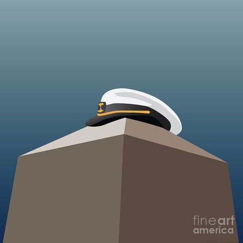 USNA Herdon Monument Covered - Art Print