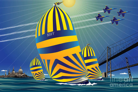 USNA High Noon Sail - Art Print