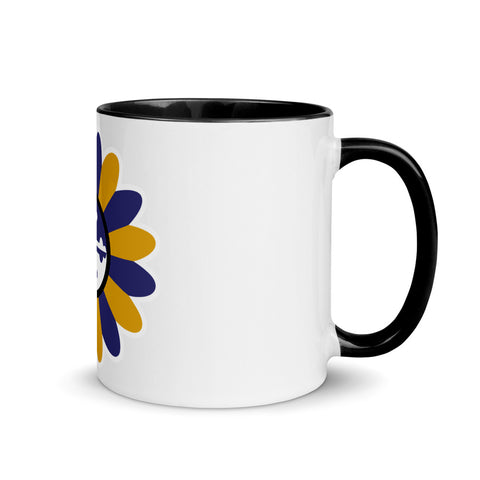 Baltimore Power Flower in Purple & Gold, Mug with Color Inside, 11 oz.