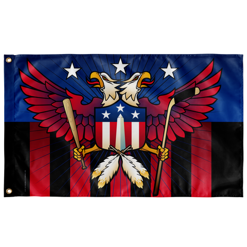 "Washington Double Eagle Sports Crest, Large Flag, 60 x 36"" w/ 2 grommets"