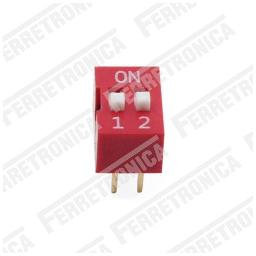 DIP Switch 2P Interruptor de 2 Posiciones - 2.54 mm, Ferretrónica