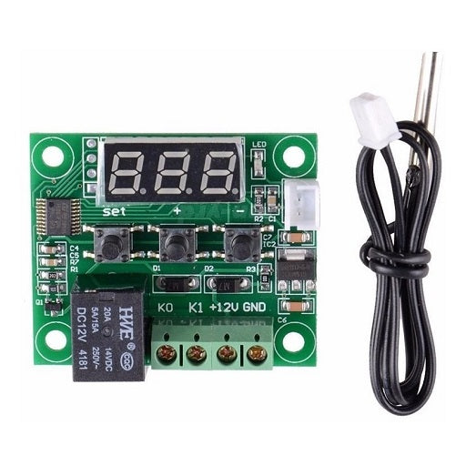 Mini termostato digital W1209 para control de temperatura con rele y display, ferretronica