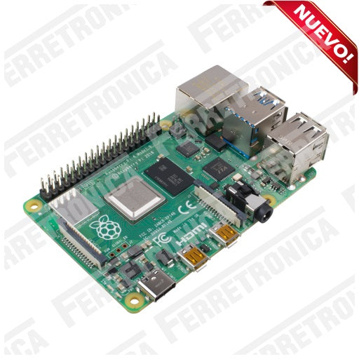 Raspberry PI 4 Modelo B - 4GB Raspberry PI4 B 4GB - Raspberry PI4 Modelo B 4 GB version 2018, Ferretrónica
