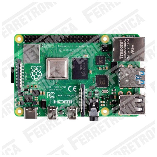 Raspberry PI 4 Modelo B - 4GB Raspberry PI 4 B 4GB - Raspberry PI4 Modelo B 4 GB version 2018, Ferretrónica