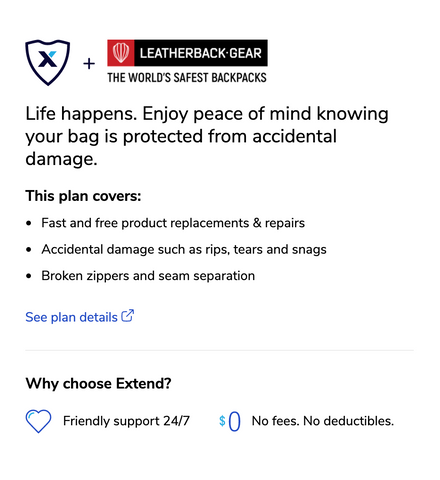 Extend Accident Protection for Leatherback Gear