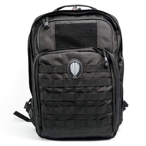 Tactical One Bulletproof Backpack Leatherback Gear Black Two Panels